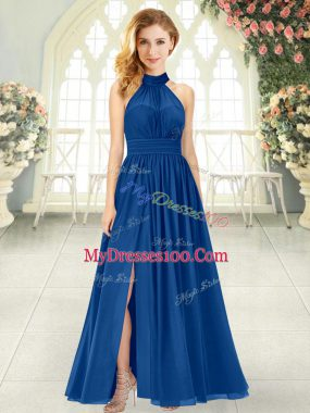 Sleeveless Zipper Ankle Length Ruching Homecoming Dress
