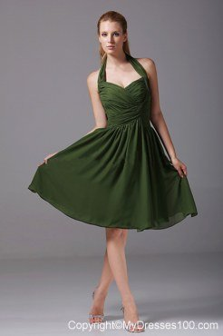 Olive Green Bridesmaid Dresses,Green Bridesmaid Dresses,White and ...
