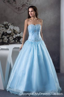 Light Blue Quinceanera Dresses,Light Blue and white Sweet 16 Dress