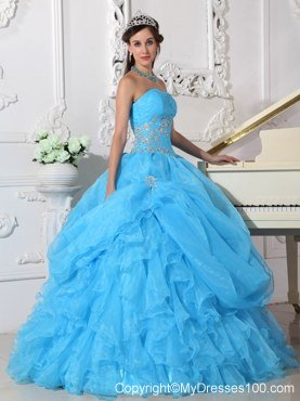 Baby Blue Quinceanera Dresses,Popular Light Blue Quinceanera Gowns