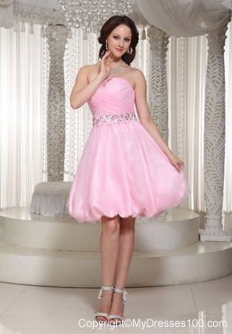 2013 Pretty Baby Pink Party Dresses With Beaded Decorate
