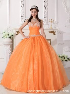 Charming Appliques Puffy Sweetheart Quinceanera Dresses In