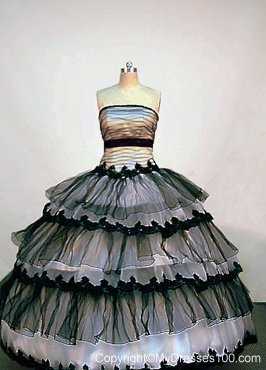 Sexy Sheer Black and White Tulle Strapless Ruffled Organza ...  Sexy Sheer Blac...