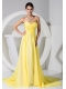 Yellow Sweetheart Neckline Brush Train Homecoming Dress 2013