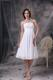 White Strapless Ruched Short Junior Bridesmaid Dress with Zipper Up back