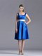 Exquisite Empire Square Taffeta Blue Mother of The Bride Dress with White Belt