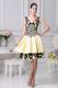 Beading Decorate Yellow V-neck Cocktail Dress For 2013 on Sale