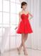 Fashion Beading Sweetheart Mini-length Red Cocktail Dress