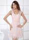 Simple Light Pink Straps Empire 2013 Ruching Cocktail Dress for Girl