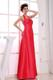 Red A-Line Floor-length Taffeta Halter 2013 Bridemaid Dress