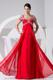 Beading Decorate Bodice Red Straps 2013 Foraml Evening Dresses