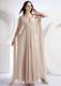 Empire V-neck Watteau Foraml Evening Dresses Dress Champagne
