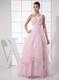 One Shoulder Beading Custom Made Pink 2013 Foraml Evening Dresses