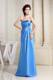 Sky Blue Foraml Evening Dresses With Strapless Floor-length
