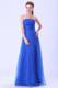 Blue 2013 Ruched Prom Graduation Dress with Empire Strapless