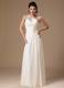 Beaded Decorate One Shoulder White Empire 2013 Prom Gowns