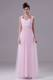 Pink Custom Made Graduation Dress with Square Beading Floor-length