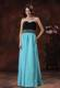 2013 New Style Graduation Dress With Aqua Blue Sweetheart Beaded