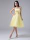 2013 Light Yellow Homecoming Dresses With Beaded Ruche Strapless