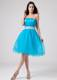 2013 Teal Strapless Homecoming Dresses With Sash and Ruching