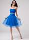 Beading Strapless Knee-length Ruching Homecoming Dresses