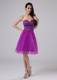 Fuchsia Homecoming Dresses With Beaded Sweetheart Organza 2013
