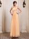 Gold Homecoming Dresses With Halter Ruching for Party in Spring