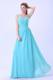 Straps Ruched For 2013 Aqua Blue Homecoming Dresses with Chiffon