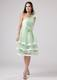 Apple Green Ruffled Layers 2013 Homecoming Dresses One Shoulder