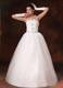 New Styles Beaded Strapless Floor-length Wedding Gown in White