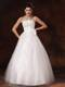 Diamonds and Bowknot Decorated Puffy Bridal Gown For Woman