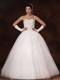 Shining Beadings and Ruching Decorated Bridal Gown with Lace-up Back