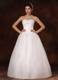 White Bodice Bridal Gown with Beaded Flowers Neckline For Beauty