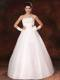 Lovely Bowknot and Beading Floor-length Princess Dress for Wedding