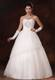 Rhinestone Decorated Tulle Ball Gowns Bridal Dresses with Lace Hemline