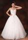 Halter Top Bridal Gown with Diamonds Bowknot and Lace Hemline