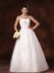 Lace-up Back Puffy Strapless Bridal Gown with Shining Beading Waist