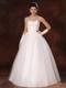 White Sweetheart Ball Gown Beading Bridal Dresses With Gloves