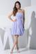 Ruched and Beaded Lilac Knee-length Prom Dress of Strapless and Sweetheart
