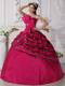 Fuchsia Ball Gown Strapless Zebra Beading Beaded Quinceanera Dress