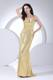 Paillette Over Skirt V-neck 2013 Prom Dress Floor-length Gold
