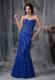 Royal Blue Mermaid Sweetheart Floor-length Beading Pageant Dresses