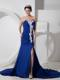 Best Peacock Blue Sweetheart Pageant Dresses with Appliques and Ruches