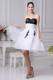 Beading and Appliques Ruching 2013 White Party Dresses Knee-length