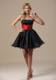 Montana Princess Mini-length Beaded Black and Red 2013 Party Dresses