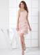 One Shoulder Column Pleat Knee-length Light Pink 2013 Party Dresses
