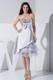 2013 Sequin Bowknot Ruffled Sweetheart Grey Tea-length Party Dresses