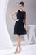 Affordable Navy Blue Knee-length Beading Scoop 2013 Party Dresses