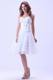 Sweetheart Knee-length Short White Summer Party Dress With Ruched