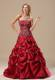 Classical Embroideries Bodice Long Sweet 15 Dresses with Pick-ups